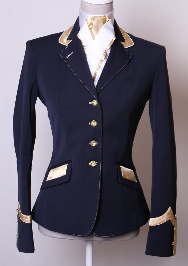 Charlotte (Navy) short show Jacket/Pale Gold Trim