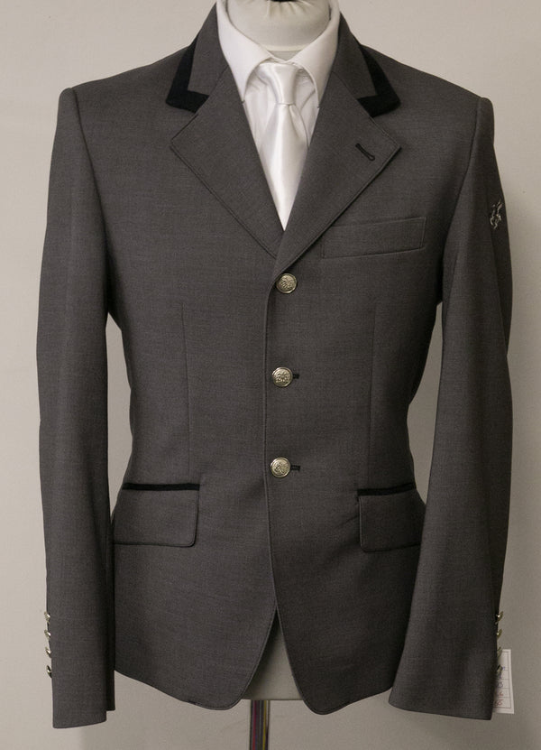 "SALE - Cameron short Jacket - Size 38"" SPL - Bombardo light grey/Black Suede"