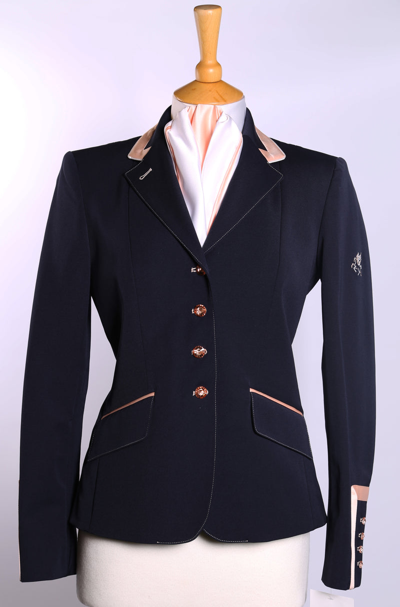 Charlotte (Navy) short show Jacket/Peach Trim - Size 4