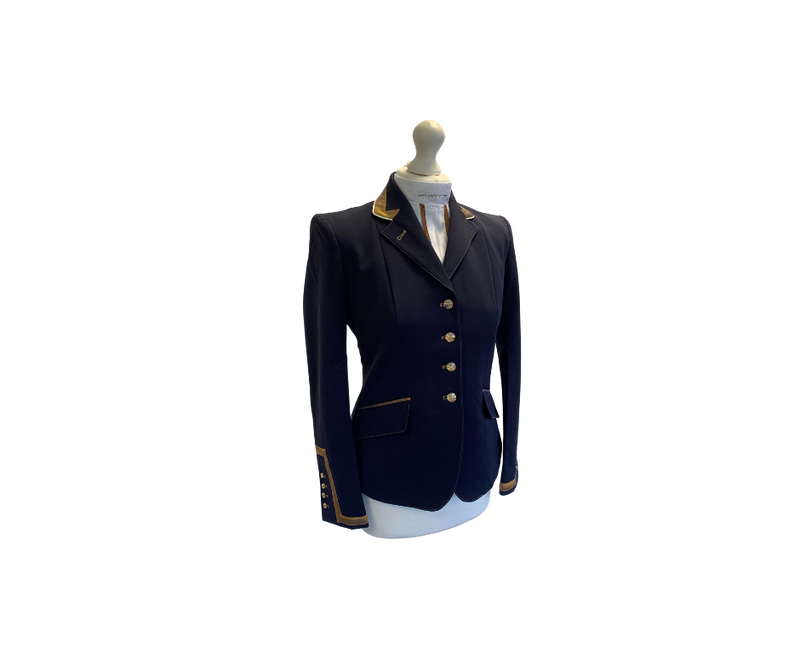Flying Changes Charlotte, Ladies Short Jacket, Navy, Copper, UK size 10 SALE