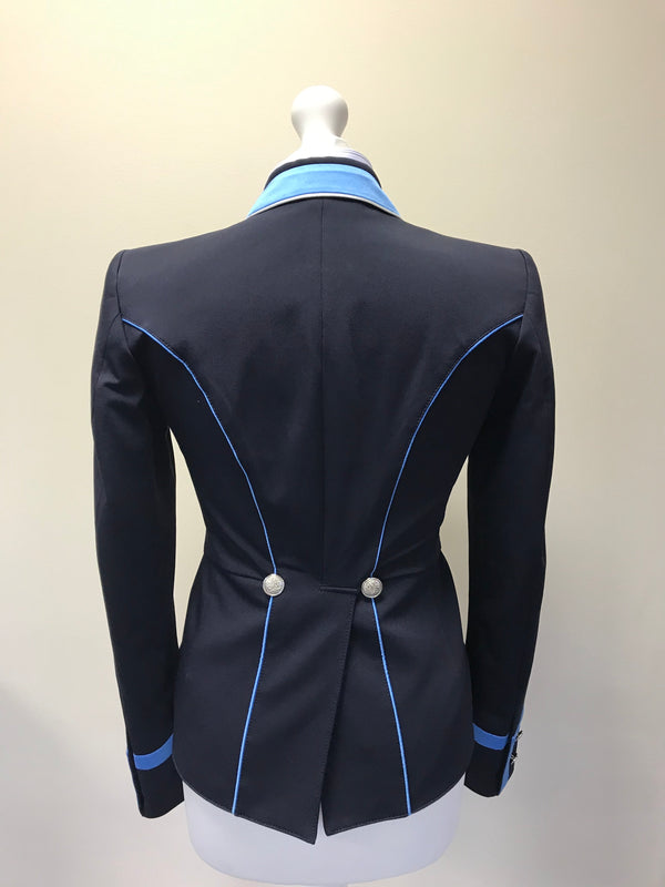 SALE - FLYING CHANGES LADIES SHORT TAILCOAT, CATHERINE, FC NAVY, WEDGEWOOD, UK SIZE 8 SPL