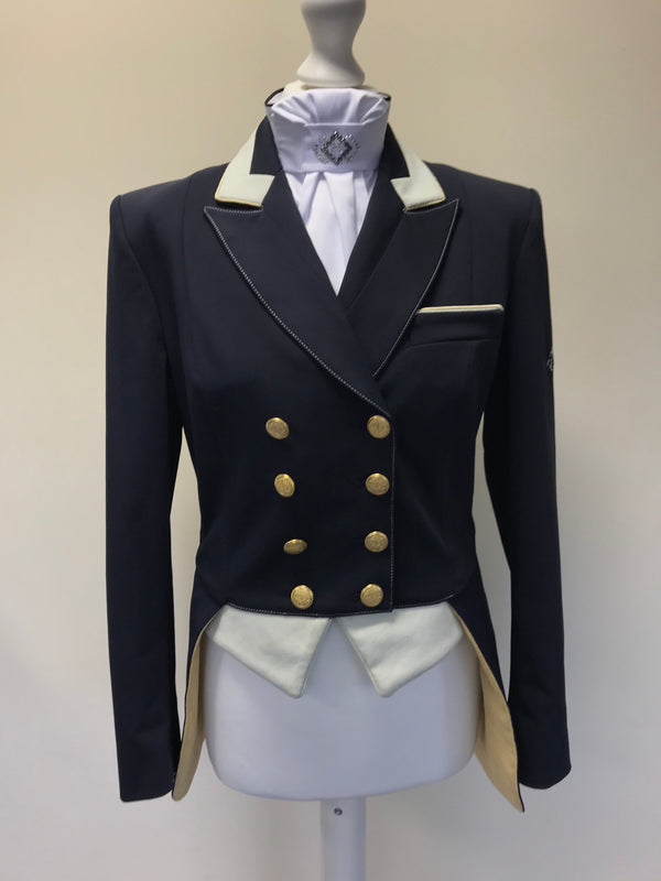 SALE - Navy tailcoat Victoria Interchangeable tails UK size 14