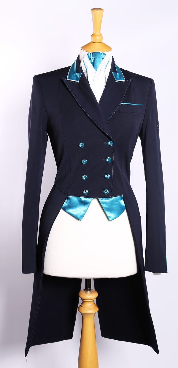 Isabell/Victoria (navy) Tailcoat/Turquoise Trim