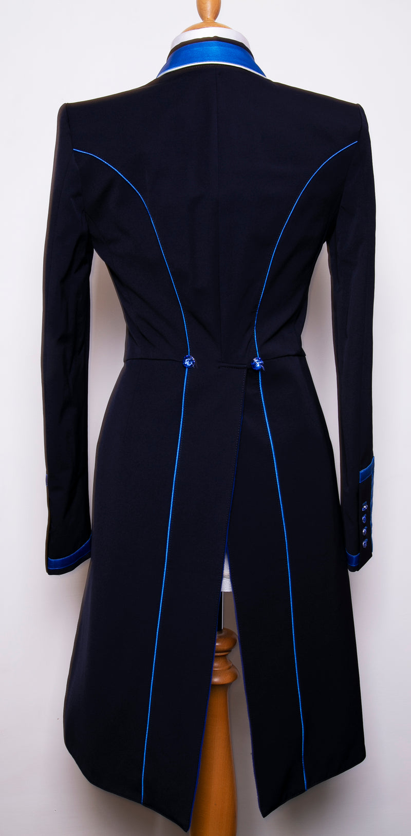Flying Changes Ladies Isabell Dressage Tailcoat, Navy, Royal Blue