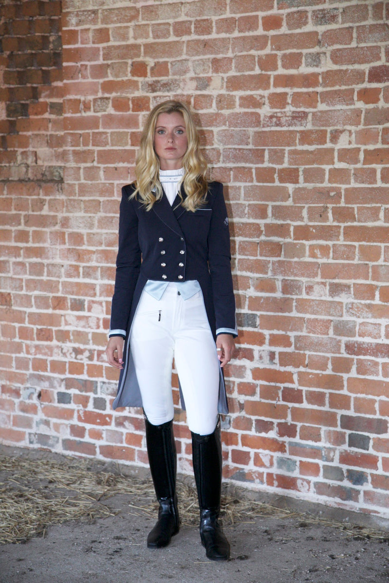 Flying Changes Ladies Isabell Dressage Tailcoat, Navy, Slate