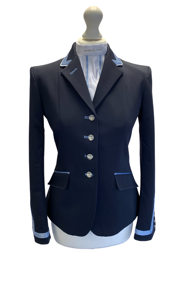 Flying Changes Charlotte, Ladies Short Jacket, Navy, Sky Blue SALE