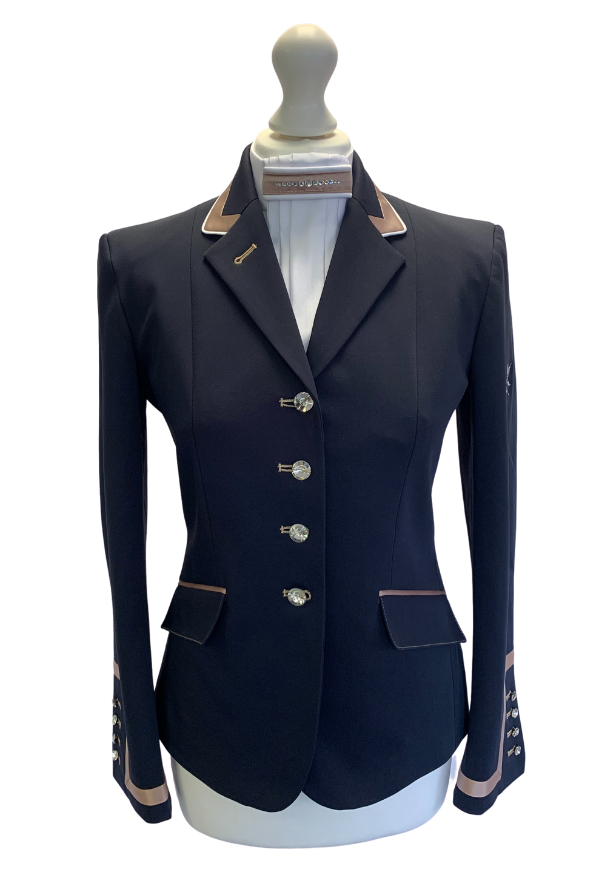 Flying Changes Charlotte, Ladies Short Jacket, Navy, Coffee SALE