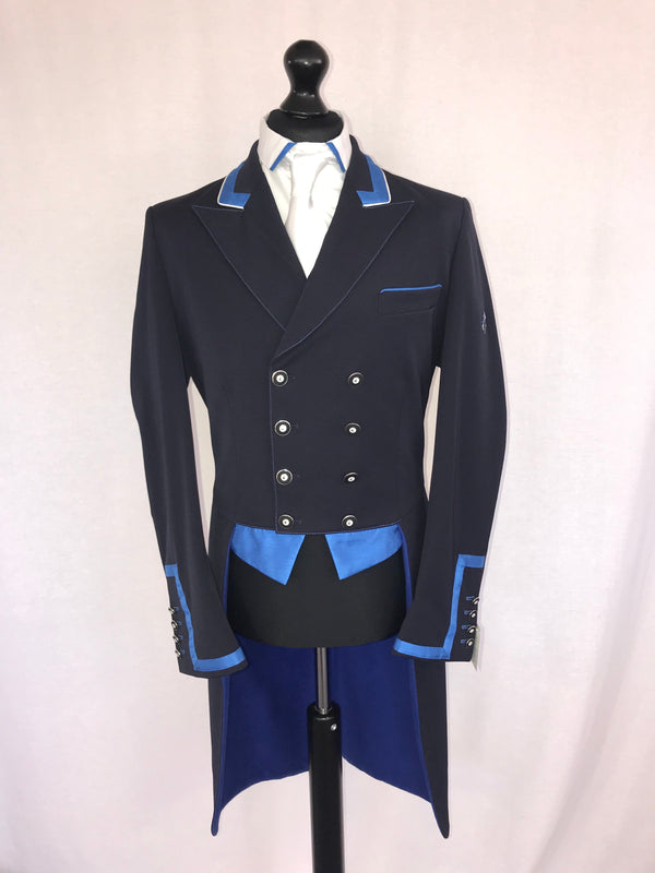 Flying Changes Mens Carl Dressage Tailcoat, Navy, Royal Blue