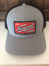 Load image into Gallery viewer, Narragansett Trucker Hat Grey With Black Mesh