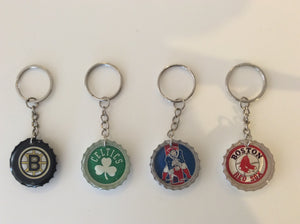 Handmade Boston Sports Bottlecap Keychains