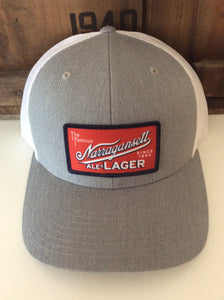 Narragansett Trucker Hat Grey With White Mesh