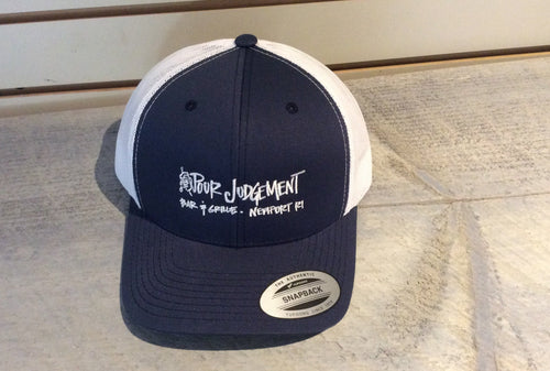 Pour Judgement Trucker Hat Navy