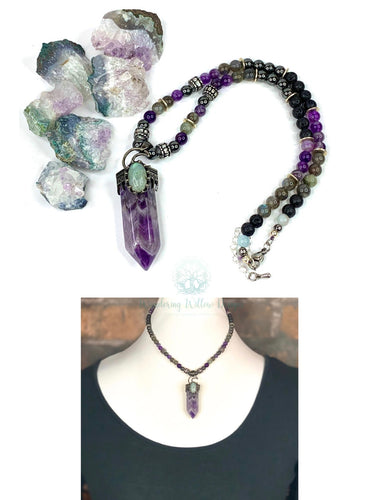 Calming Amethyst Point Necklace