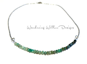 Ombré Emerald Infinity Necklace