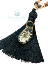 Load image into Gallery viewer, Agate Mala Tassel Necklace