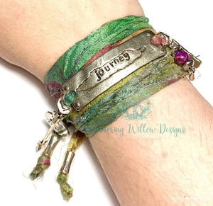 Journey Recycled Sari Silk Wrap Bracelet