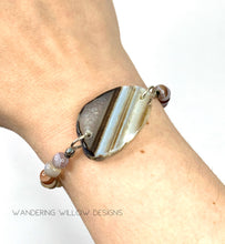 Load image into Gallery viewer, Brown & Botswana Agate Stretch Bracelet