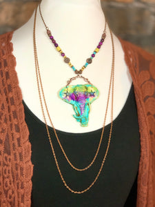 Warrior Elephant Layered Necklace