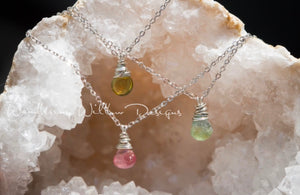 Tourmaline Tear Necklaces