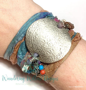 Goddess Recycled Sari Silk Wrap Bracelet