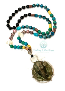 Earth Elephant Necklace