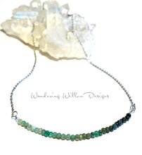 Load image into Gallery viewer, Ombré Emerald Infinity Necklace