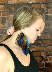 Low drop Feather Ear Cuff