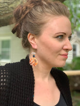 Load image into Gallery viewer, Peace Crystal Dangle Earrings