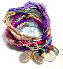 Load image into Gallery viewer, Festival Collage Sari Silk Bracelet