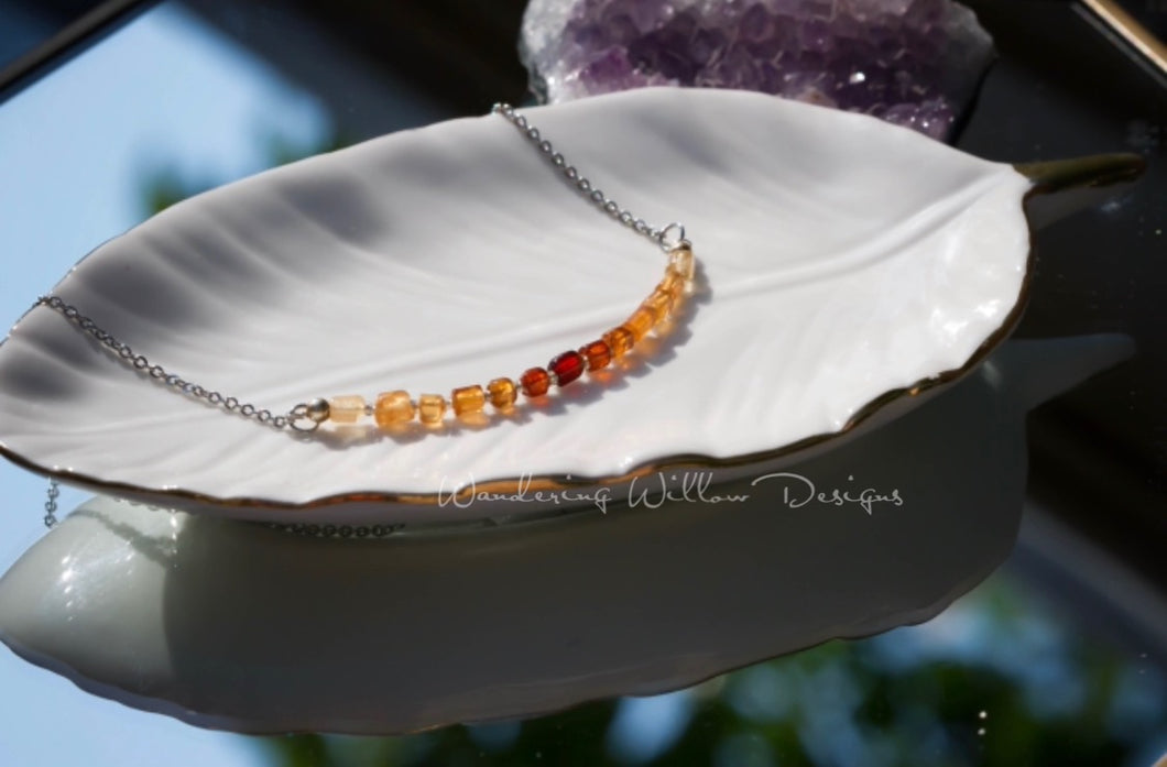 Citrine Ombré Infinity Necklace