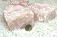 Load image into Gallery viewer, Brazilian Raw Rose Quartz Candle Holders