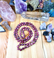 "Load image into Gallery viewer, 36"" Dark Jasper Mala Necklace"
