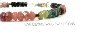 Rainbow Tourmaline Gemstone Bracelet