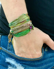 Load image into Gallery viewer, Journey Recycled Sari Silk Wrap Bracelet