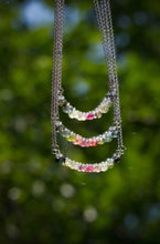 Load image into Gallery viewer, Rainbow Tourmaline Tear Infinity Necklace