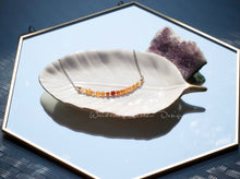 Load image into Gallery viewer, Citrine Ombré Infinity Necklace