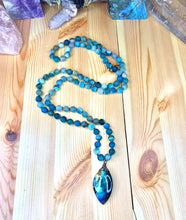 "Load image into Gallery viewer, 36"" Ocean Vibes Labradorite Mala Necklace"