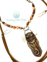 Load image into Gallery viewer, Earth Elephant Choker Dangle Necklace