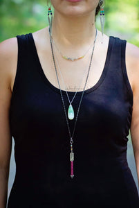 Chrysoprase Tear Drop Necklace