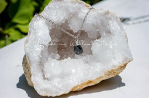 Black Spinel Tear Necklace