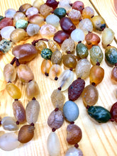 "Load image into Gallery viewer, 72"" Gobi Rainbow Agate Rough Mala"