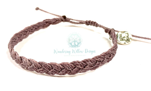 Love & Peace Braid Gratitude Bracelet