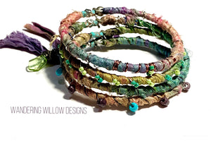 Recycled Sari Bangle SET