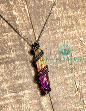 Load image into Gallery viewer, Crystal SERPENT wire wrapped Necklace