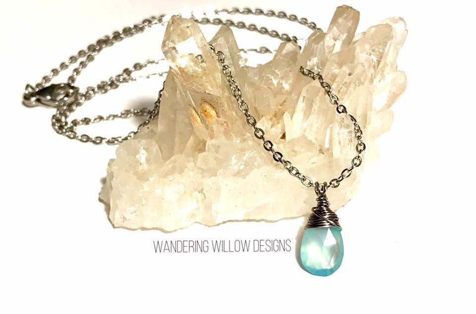 Chalcedony Minimalist Necklace