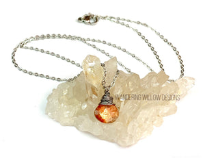 Sunstone Minimalist Necklace
