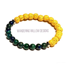 Load image into Gallery viewer, Ying Yang Chrysocolla Stretch Bracelet