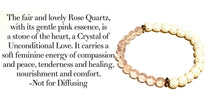 Load image into Gallery viewer, Ying Yang Rose Quartz Stretch Bracelet