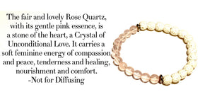 Ying Yang Rose Quartz Stretch Bracelet