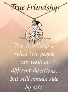 True Friendship Necklace Inspirational Card